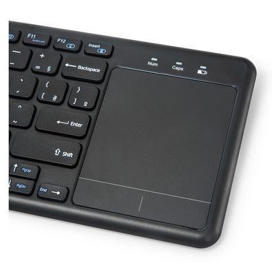 Teclado Sem Fio C3 Tech com Touchpad, ABNT2 - K-WT100BK