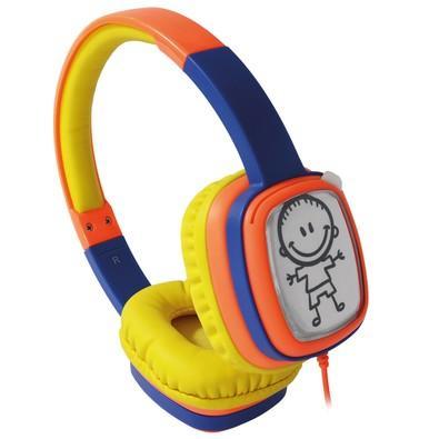 Headphone Cartoon Oex Kids Laranja e Azul HP 302