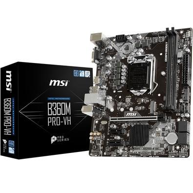 Placa-Mãe MSI B360M Pro-VH, Intel LGA 1151, mATX, DDR4