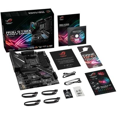 Placa-Mãe ASUS p/ AMD AM4 ATX ROG STRIX X470-F GAMING, DDR4