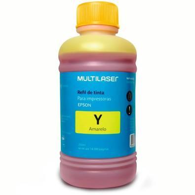 Refil de Tinta Multilaser Compatível com Epson 250ml Amarelo - RF016