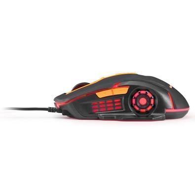 Mouse Gamer Multilaser 2400DPI Preto e Laranja com LED – MO270
