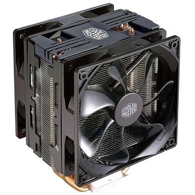 Cooler para Processador Cooler Master Hyper 212 Turbo com LED vermelho AMD/Intel - Black Cover RR-212TK-16PR-R1