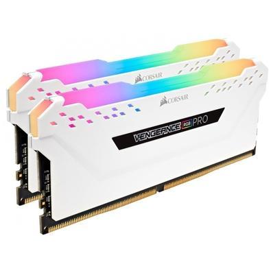 Memória Corsair Vengeance RGB Pro, 16GB (2x8GB), 2666MHz, DDR4, C16, Branco - CMW16GX4M2A2666C16W
