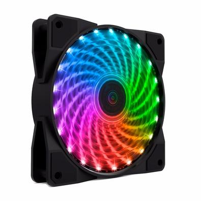 Kit Cooler Fan Gamemax 21 LED com 4 Unidades RGB e Controle Remoto, 12cm - CL400