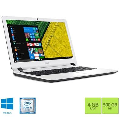 Notebook Acer Aspire, Intel Core i3-6006U, 4GB, 500GB, Windows 10, 15.6´, Branco - ES1-572-347R