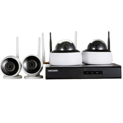 Kit de Monitoramento Hikvision NVR 4BD Wi-Fi - NK4W2-1T (TB)