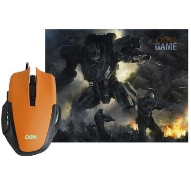 Kit Gamer OEX Game Clash - Mouse LED + Mousepad Pequeno - MC103