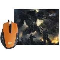 Kit Gamer OEX Game Clash - Mouse LED + Mousepad Pequeno - MC103