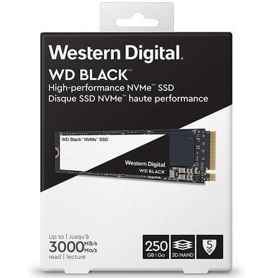 SSD WD Black, 250GB, M.2 NVMe, Leitura 3000MB/s, Gravação 1600/s - WDS250G2X0C