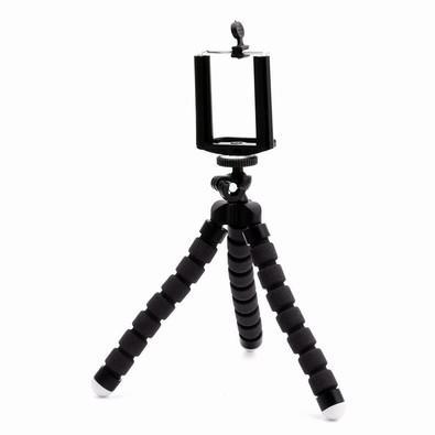Tripé Fotográfico para Câmera e Smartphone MD9 Flexível, Preto - FN182