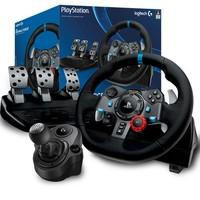 Volante Logitech G29 Driving Force PS3/PS4/PC + Câmbio Logitech Driving Force Shifter