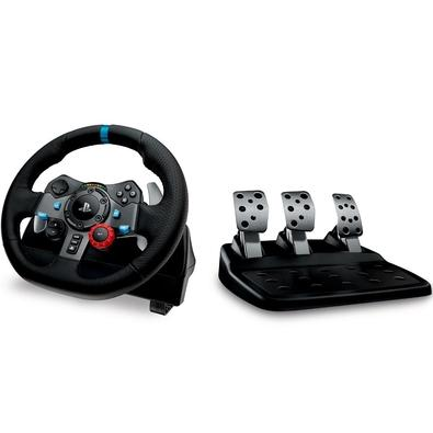 Volante Logitech G29 Driving Force PS3/PS4/PC + Câmbio Logitech Driving Force Shifter