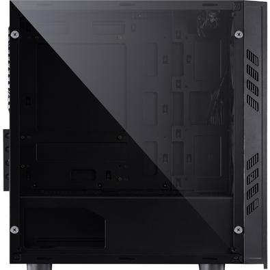 Gabinete Gamer PCYes Saturn sem Fonte, Mid Tower, USB 3.0, 3 Fans LED Vermelho, Preto com Lateral em Acrílico - SATPTVM3FCA