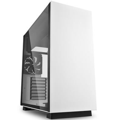 Gabinete Gamer Sharkoon Pure Steel sem Fonte,  Mid Tower, USB 3.0, 2 Fans, Branco com Lateral em Vidro - PURE STEEL WHITE ATX