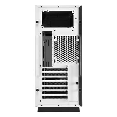 Gabinete Gamer Sharkoon Pure Steel sem Fonte,  Mid Tower, USB 3.0, 2 Fans, Branco com Lateral em Vidro - PURE STEEL WHITE ATX