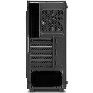 Gabinete Gamer Sharkoon TG4 RGB sem Fonte, Mid Tower, USB 3.0, 4 Fans, Preto com Lateral em Vidro