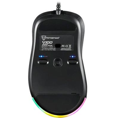 Mouse Gamer Motospeed V100 RGB, 8 Botões, 6400DPI - FMSMS0011PTO
