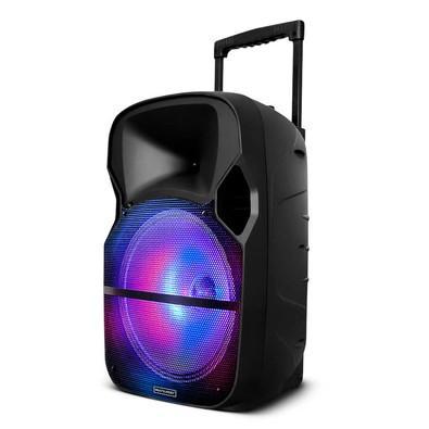 Caixa de Som Amplificadora Multilaser Trolley, Bluetooth, RGB, Speaker 12´, Microfone, 150W - SP259
