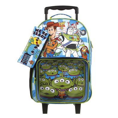 Kit Mochila Escolar Toy Story de Rodinhas com Lancheira e Estojo Tam G Ref 37552 Dermiwil