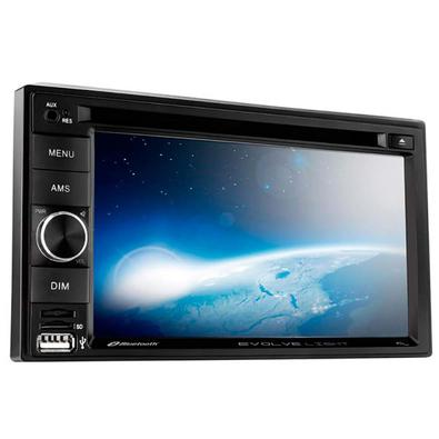 Central Multimídia Multilaser Evolve Light 6,2 Pol. 2 Din DVD Mirror Link 4x50w Bluetooth + Rádio FM AM + Entrada microSD + USB + AUX - P3321