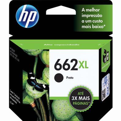 Cartucho de Tinta HP 662XL CZ105AB Preto