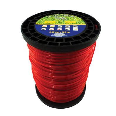 Fio de Nylon Spin Rolo 3mm 2kg 248 Metros Vermelho