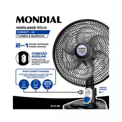 Ventilador de Mesa Mondial VT 41 Bravio 40cm 6 Pás 3 Velocidades