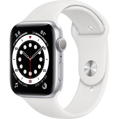 Apple Watch Series 6 S6, 44mm, GPS, Pulseira Sport, Branco - B08J5V1YWL
