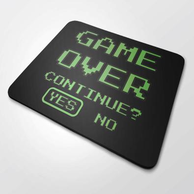 Mouse Pad Gamer Grande 35x44 cm Nerderia e Lojaria game over colorido