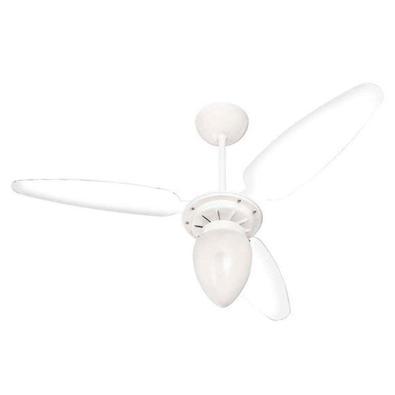 Ventilador de Teto Ventisol Wind, Branco/Transparente, 127V