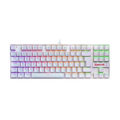 Teclado Mecânico Gamer Redragon Kumara, RGB, Switch Outemu Brown, ABNT2, Branco - K552W-RGB (PT-BROWN)