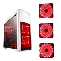 Gabinete Gamer Bluecase BG-024WT Branco, USB 3.0, Com 3 Fans Led Vermelhas - BG-024WT