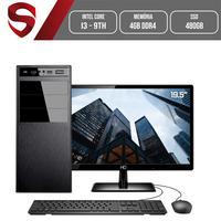 Computador Skill HomeJob Completo Intel Core i3 9ª Geração, 4GB, DDR4, Monitor 19.5´, SSD 480GB, GeForce GT, ASUS