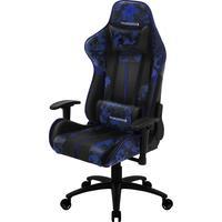Cadeira Gamer BC3 Camo/AZ ThunderX3, Suporta até 150Kg, Camuflada/Azul Admiral