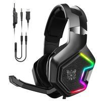 Headset Gamer Onikuma K10 Pro com Microfone, USB, P2, Compatível com PS4, Xbox-One, Celular e PC