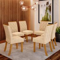Conjunto de 6 Cadeiras Estofadas Lupita