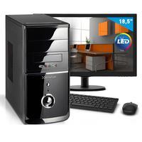 "Kit - Computador Smart Pc 80177, Intel Core I3 (4GB HD 500GB) + Monitor 18,5"" Windows 8"