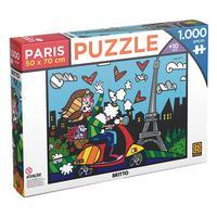 Puzzle 1000 Peças Romero Britto Paris - Grow