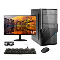 Computador Completo Corporate Asus 4° Gen I7 8gb Hd 2tb Dvdrw Monitor 15
