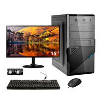 Computador Completo Corporate I3 4gb Hd 2tb Dvdrw Windows 10 Monitor 15
