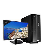 Mini Computador ICC SL2582Dm15 Intel Core I5 8gb HD 1TB DVDRW Monitor 15 Windows 10