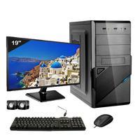 Computador Completo Icc Intel Core I3 4gb Hd 240gb Ssd Dvdrw Monitor 19