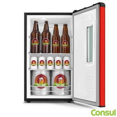 Cervejeira Vertical Consul De 82 Litros Frost Free Vermelho - Czd12av - 110v
