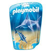 Playmobil, Saquinhos Com Animais, Peixe Espada Com Filhote