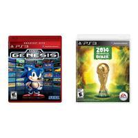 Kit Jogos Sonic Ultimate Genesis Collection E Copa Mundo Fifa 2014 Ps3