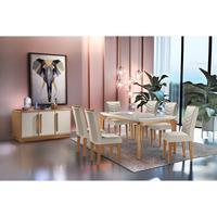 Conjunto Sala de Jantar Liz com 180cm e 6 Cadeiras MDF