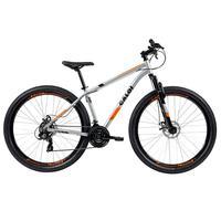 Bicicleta Mtb Caloi Two Niner Alloy Aro 29, Sunrun, 21 Velocidades, Prata