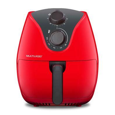 Fritadeira Elétrica Sem Óleo Air Fryer 4 Litros 220V Vermelha Multilaser - CE084
