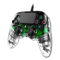 Controle Nacon Wired Illuminated Compact Controller Green (com Fio, Iluminado, Verde) - Ps4 E Pc